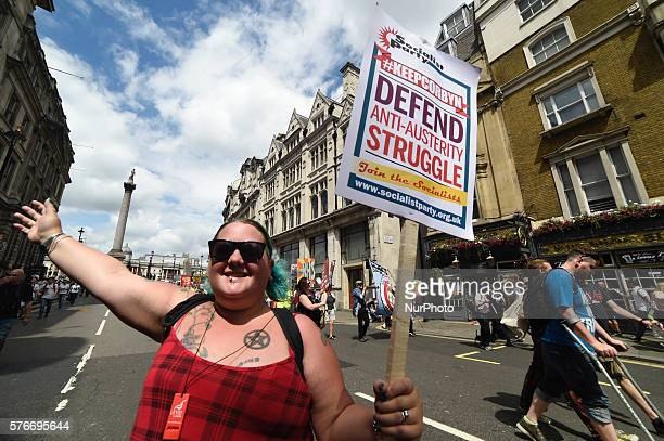 The Peoples Assembly Against Austerity, Black Live Matters and The Socialist Workers Party organised a march on Saturday July 16th in London, United...