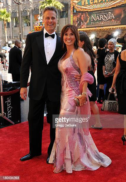 The People's Court Judge Marilyn Milian and husband John Schlesinger arrive at the 35th Annual Daytime Emmy Awards at the Kodak Theatre on June 20...