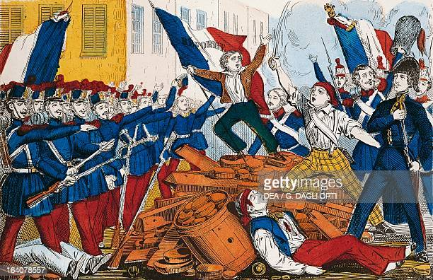The people's uprising in Paris in February 1848 engraving France 19th century Paris Hôtel Carnavalet