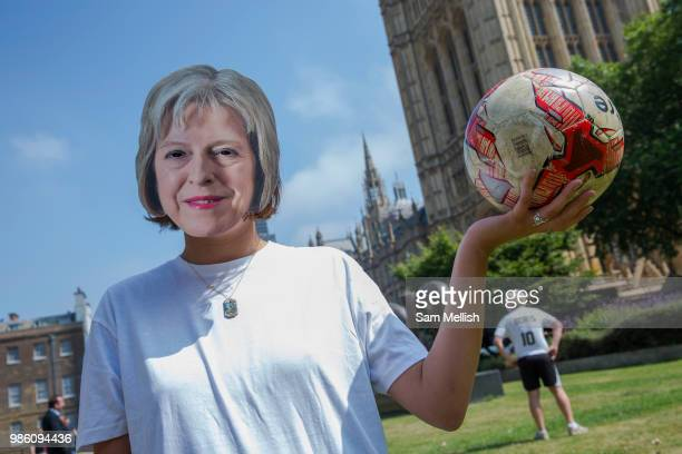 The Peoples Vote campaign organised a World Cup football event on College Green to highlight the shambolic state of Brexit on the day the EU Council...