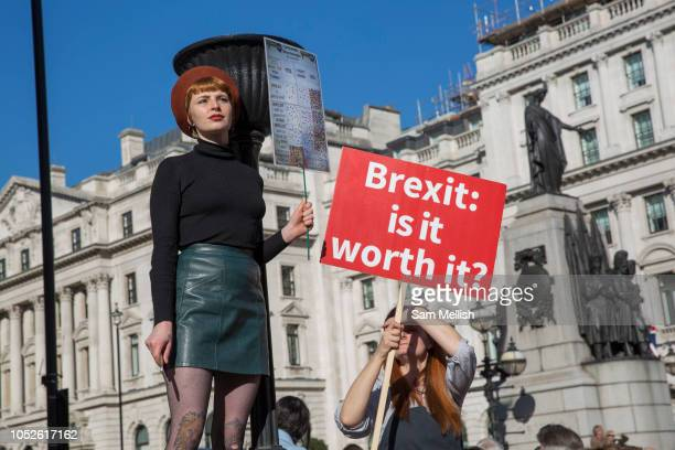 The Peoples Vote March For The Future on 20th October 2018 in London, United Kingdom. More than 100,000 people marched on Parliament to demand their...