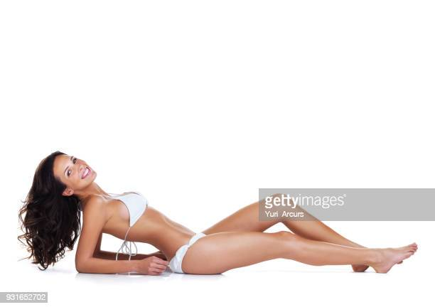 the perfect beach body - beautiful long legs stock pictures, royalty-free photos & images