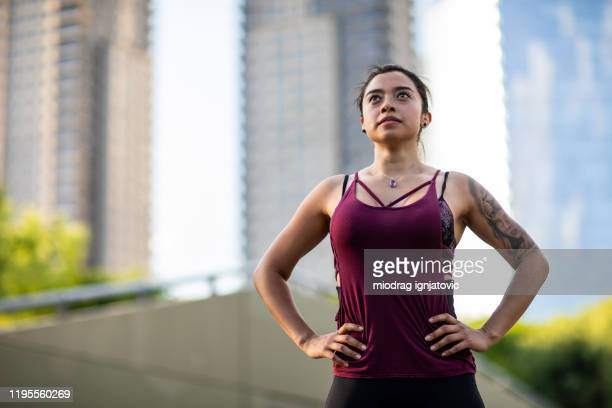 the perfect combo of fresh air and fitness - center athlete stock pictures, royalty-free photos & images