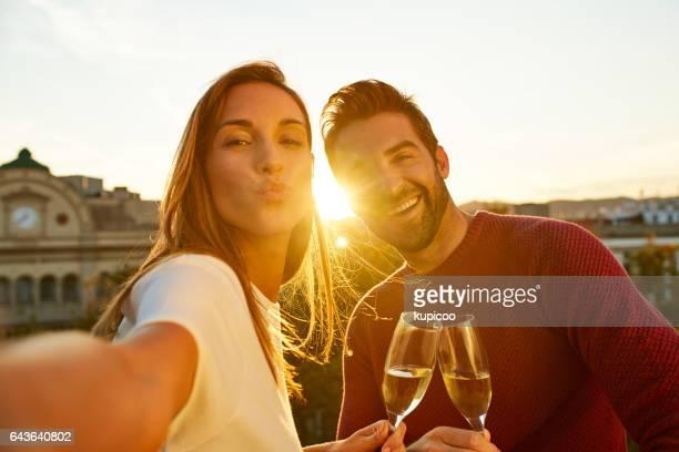 Le couple parfait selfie