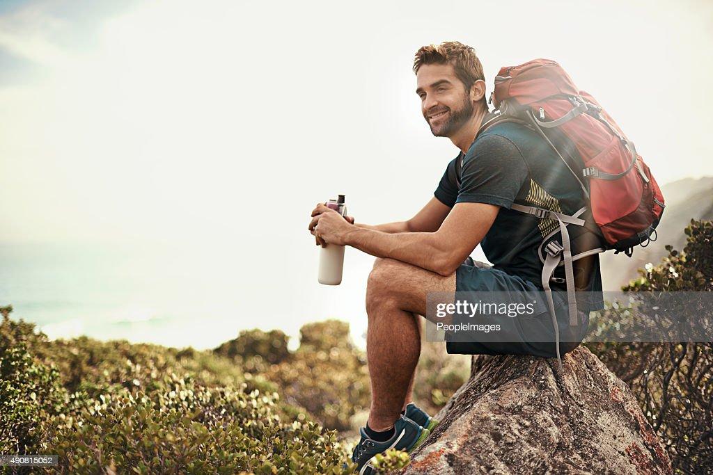 El día perfecto para salir en la naturaleza. : Foto de stock
