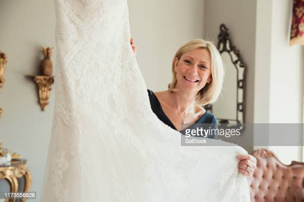 the perfect dress for the perfect bride - dress stock pictures, royalty-free photos & images
