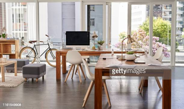the perfect environment to work on your success - office background stock pictures, royalty-free photos & images