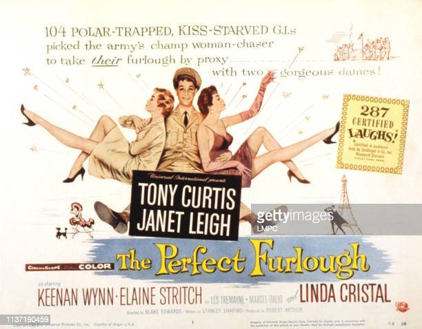 The Perfect Furlough poster Janet Leigh Tony Curtis Linda Cristal 1959