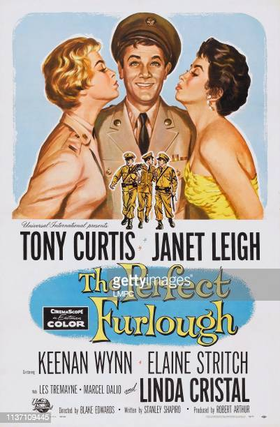 Janet Leigh Tony Curtis Linda Cristal on poster art 1959