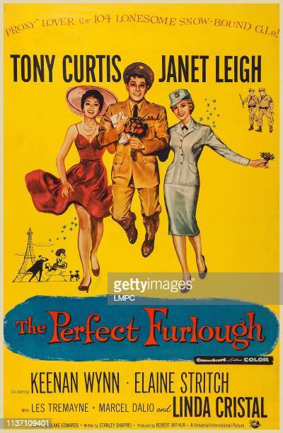 The Perfect Furlough poster US poster art from left Linda Cristal Tony Curtis Janet Leigh 1958