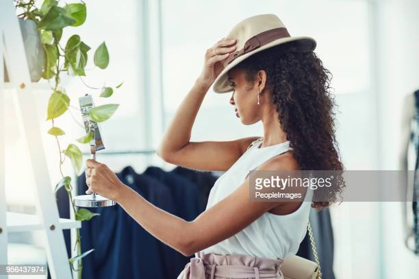 the perfect hat can do wonders for an outfit - fedora stock pictures, royalty-free photos & images