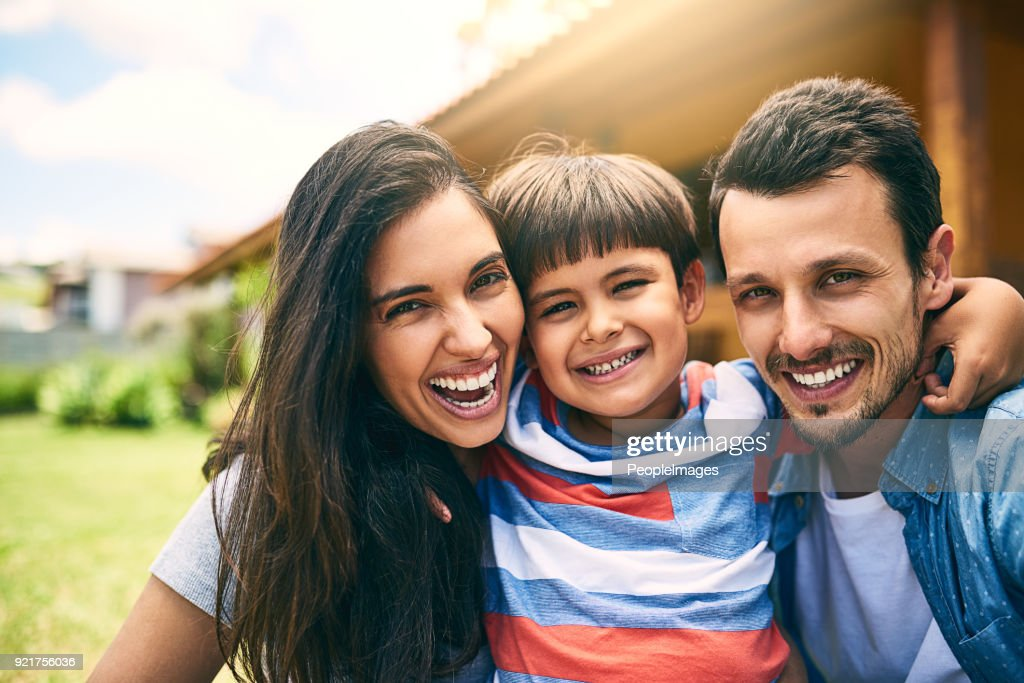 The perfect little family : Stock Photo