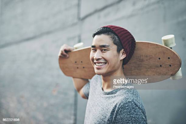 the perfect way to get through these streets - skating stock pictures, royalty-free photos & images