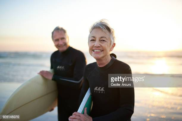 the perfect way to spend their free time - active senior stock photos and pictures