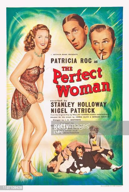 The Perfect Woman poster US poster art from left Patricia Roc Stanley Holloway Nigel Patrick 1949