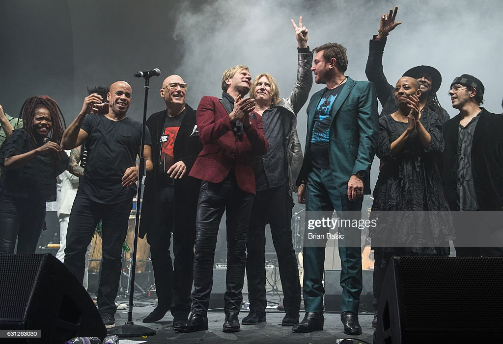 The Performers close the show at a special concert Celebrating David Bowie With Gary Oldman & Friends on what wold have been Bowie's 70th birthday at O2 Academy Brixton on January 8, 2017 in London, England.