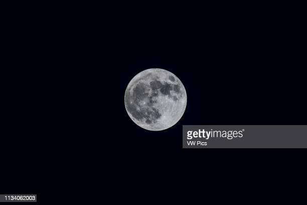 The perigean Full Moon of January 1 the closest and largest Full Moon of 2018 a socalled supermoon This is a single exposure through the 66mm William...