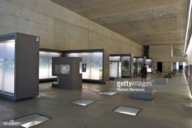 The permanent exhibition in the documentation centre at the former BergenBelsen German Nazi concentration camp in Lower Saxony Germany 2014 The site...