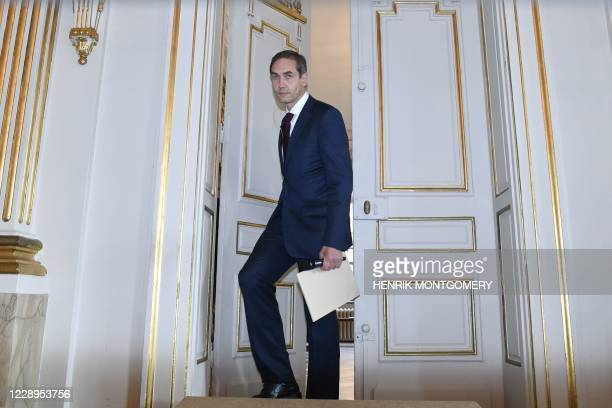 The Permanent Secretary of the Swedish Academy, Mats Malm, arrives to announce the winner of the 2020 Nobel Prize in Literature at the Swedish...