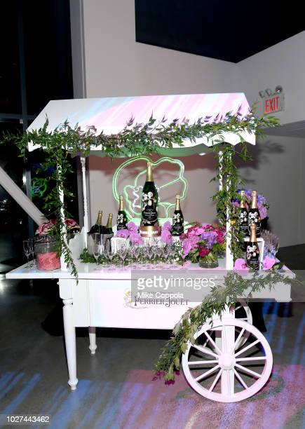 The Perrier Jouet cart at the Alber Elbaz X LeSportsac New York Fashion Week Party at Gallery I at Spring Studios on September 5 2018 in New York City