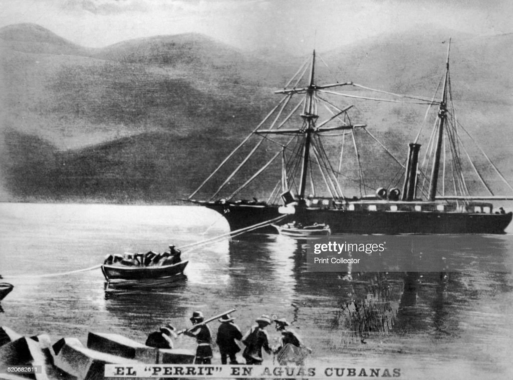 The Perrit in Cuban Waters, (1869), 1920s. : News Photo