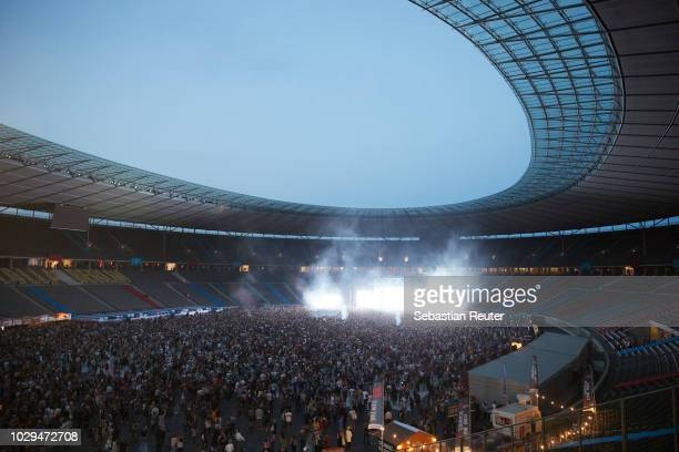 The perry stage is seen during Lollapalooza Berlin 2018 at Olympiagelaende on September 8, 2018 in Berlin, Germany.