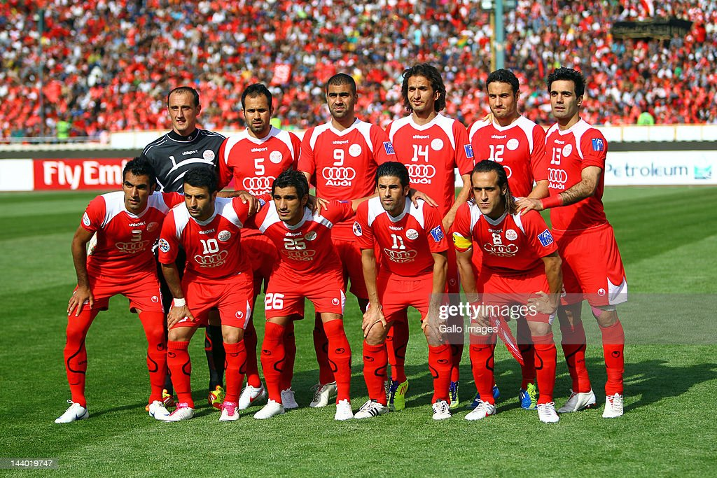 Tehran Iran May 01 The Persepolis F C Team Pose Before The Afc News Photo Getty Images