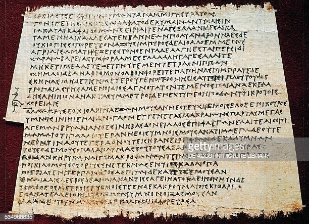 The Persians description of the battle of Salamis in 480 BC of Timotheus of Miletus Greek papyrus Greek civilization 5th4th century BC