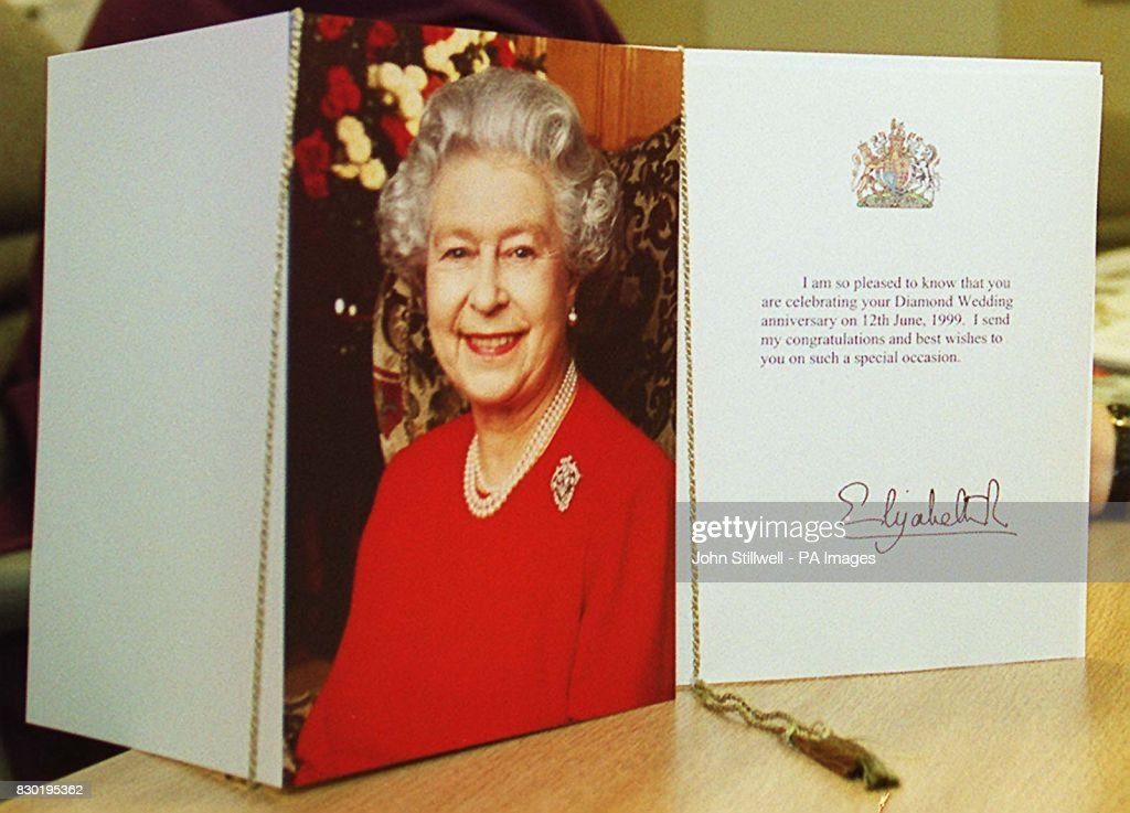 Queens 100th birthday card pictures getty images the personalised 100th birthday card that the queen will send to centenarians in place of the bookmarktalkfo