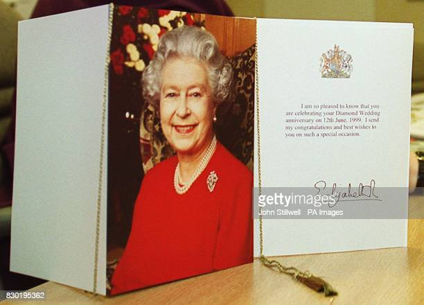 The personalised 100th birthday card that The Queen will send to centenarians in place of the telemessages sent previously The newlook cards which...
