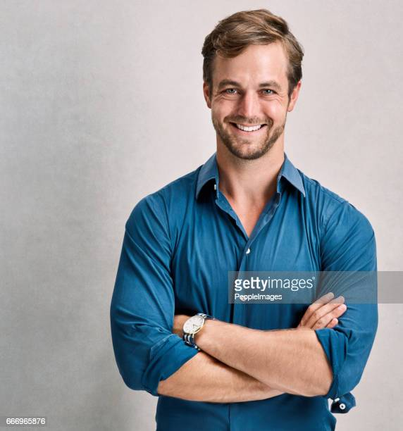 the personification of confidence - open collar stock photos and pictures