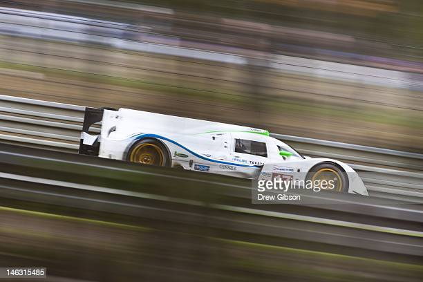 The Pescarolo Team Dome S1025 Judd driven by Sebastien Bourdais of France Nicolas Minassian of France and Seiji Ara of Japan during practice for the...