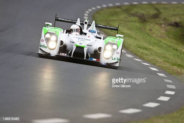 The Pescarolo Team Pescarolo Judd driven by Emmanuel Collard of France JeanChristophe Boullion of France and Stuart Hall of England during practice...