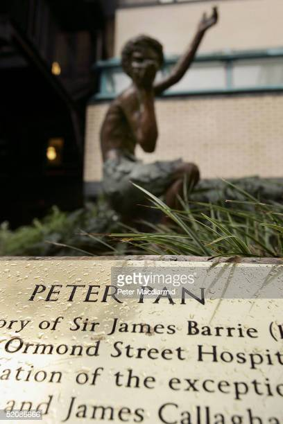 The Peter Pan statue at Great Ormond Street Hospital is seen on January 29 2004 in London England The Special Trustees of Great Ormond Street...