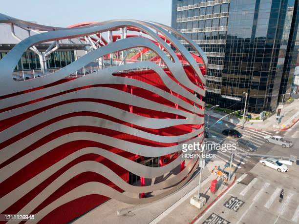The Petersen Automotive Museum is seen amid the coronavirus pandemic in Los Angeles California April 27 2020 Due to the global coronavirus COVID19...