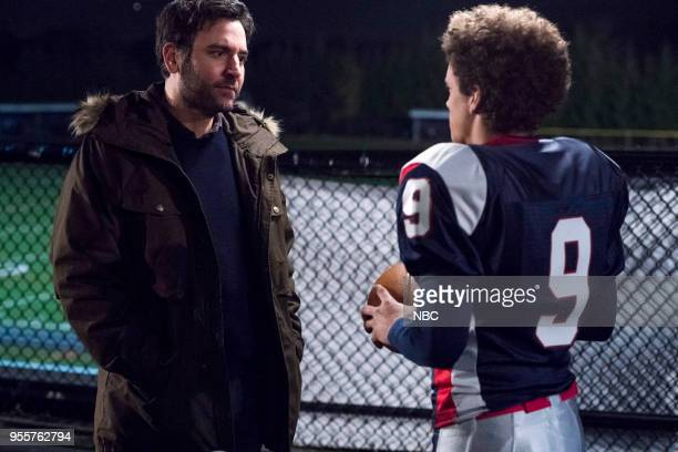 RISE The Petition Episode 108 Pictured Josh Radnor as Lou Mazzuchelli Damon J Gillespie as Robbie Thorne