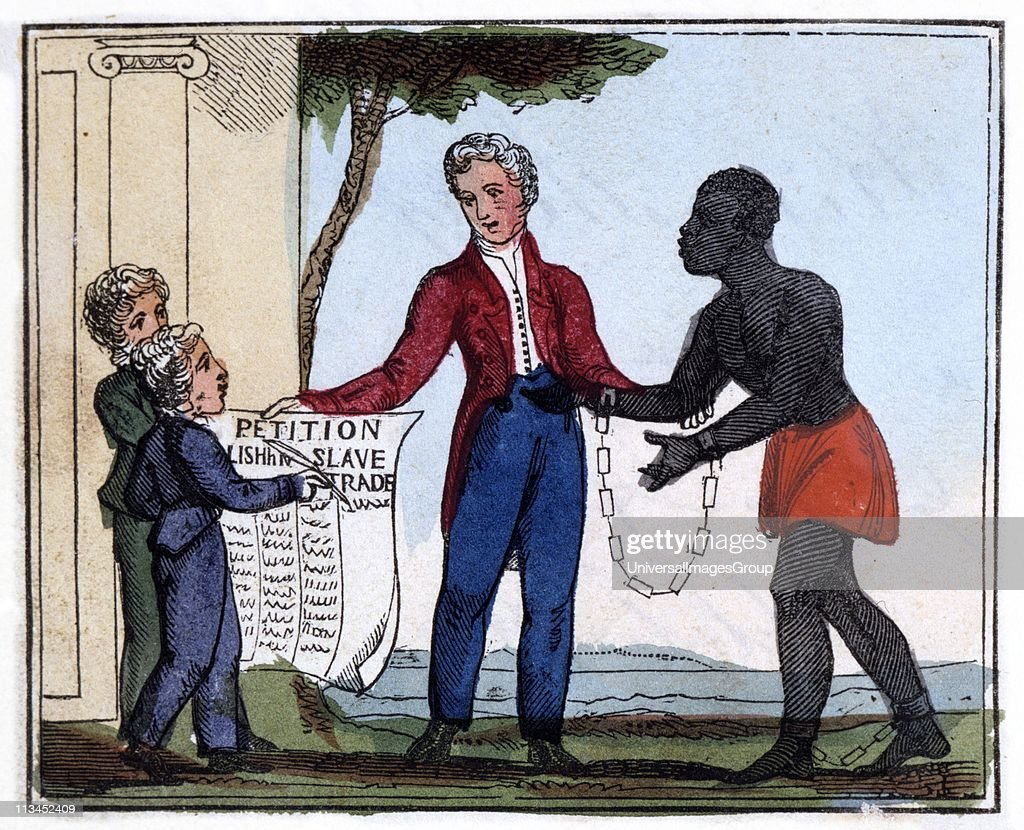 The Petition for Abolishing the Slave-Trade. 'Come, listen to my plaintive ditty,/Ye tender hearts, and children dear/And, should it move your souls to pity,/Oh try to end the griefs you hear.' From Ameilia Opie The Black Man's Lament: or How to Make Suga... : News Photo