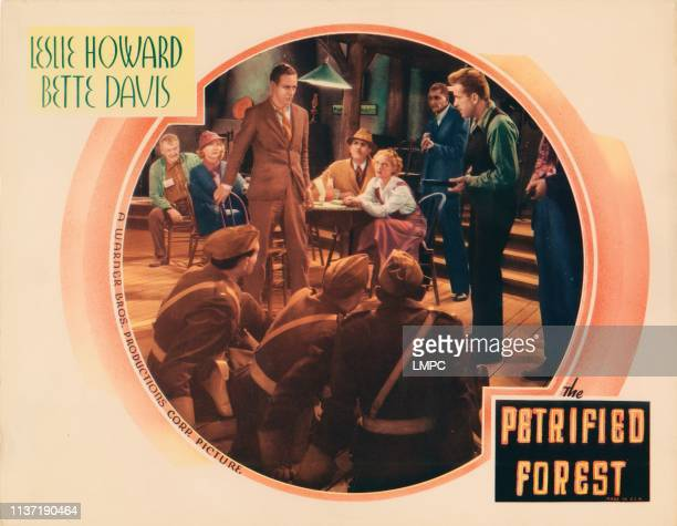 The Petrified Forest lobbycard Charley Grapewin Genevieve Tobin Leslie Howard Paul Harvey Porter Hall Bette Davis Humphrey Bogart 1936