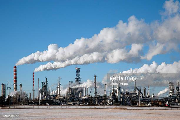 The Petro-Canada Refinery in Strathcona County, Edmonton, Alberta, Canada, on December 23, 2008.