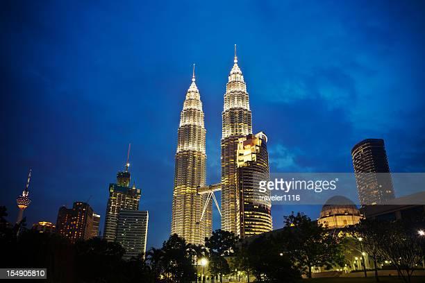 The Petronas Towers From Downtown Kuala Lumpur, Malaysia