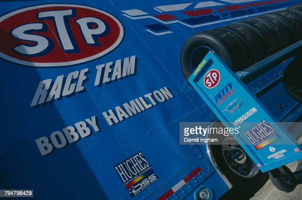 The Petty Enterprises racing team car transporter/hauler at the All Pro Bumper To Bumper 300 at Charlotte Motor Speedway Concord North Carolina 4th...
