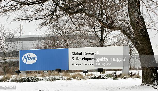 The Pfizer Global Research and Development facility is pictured January 22, 2007 in Ann Arbor, Michigan. Pfizer, the world's largest pharmaceutical...