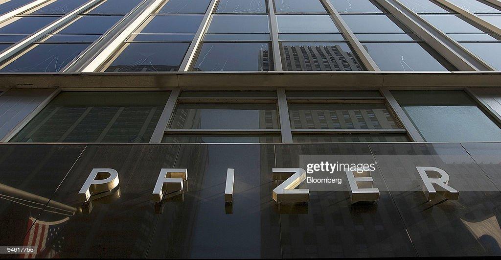 The Pfizer Inc. headquarters in New York, U.S., on Wednesday : News Photo