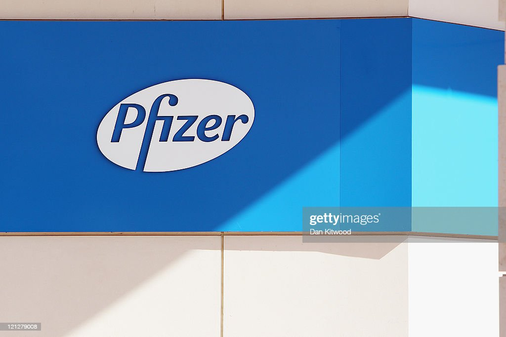 The Pfizer Pharmaceutical company logo is displayed at