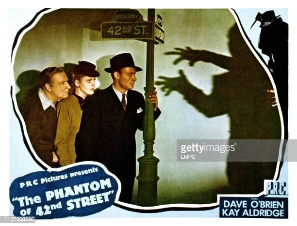 The Phantom Of 42nd Street lobbycard from left Alan Mowbray Kay Aldridge Dave O'Brien 1945