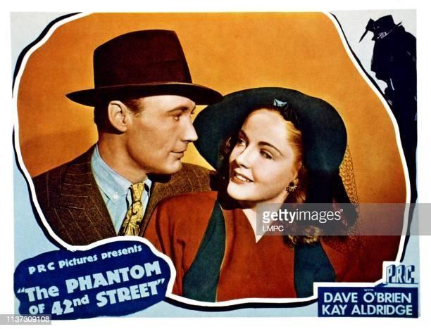 The Phantom Of 42nd Street lobbycard from left Dave O'Brien Kay Aldridge 1942