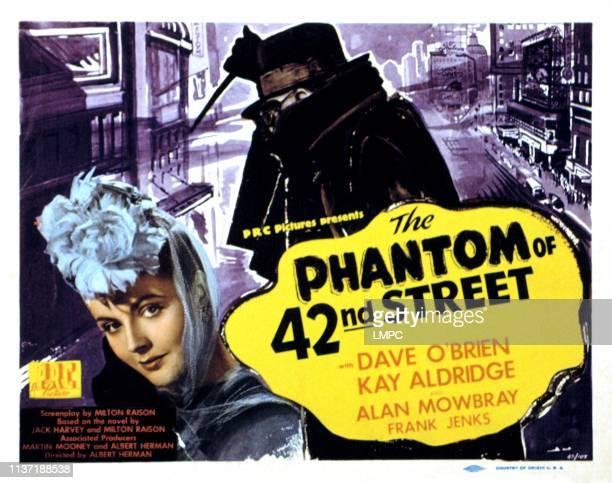 The Phantom Of 42nd Street lobbycard Kay Aldridge 1945