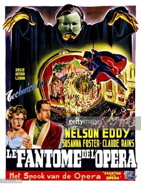 The Phantom Of The Opera, poster,, Claude Rains , Susanna Foster, Nelson Eddy, , 1943.