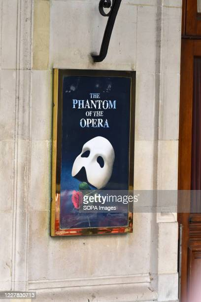 The Phantom of the Opera sign on Her Majestys Theatre in Haymarket. The Phantom of the Opera is to permanently close in the West End having run 34...