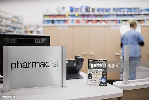 The pharmacy counter stands inside a Walgreens Boots Alliance Inc store in Elmwood Park Illinois US on Tuesday April 5 2016 Walgreens Boots Alliance...